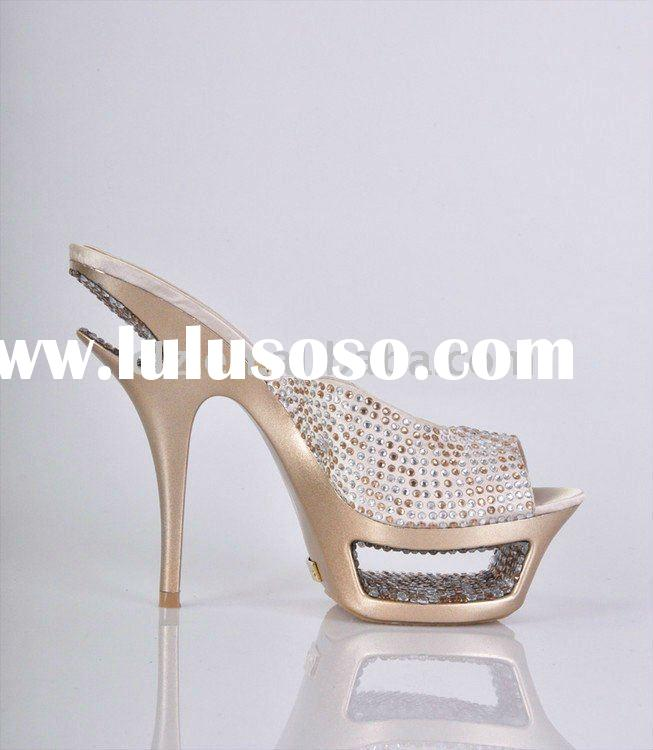 New arrival crystal diamond women high heel shoes GSL006