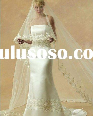 New style lace long wedding veil /bridal veil CWFav633