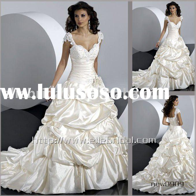 New style satin ball gown wedding dress wedding gown