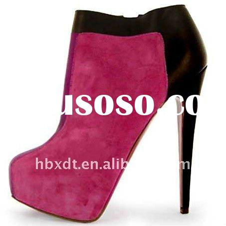 Newest high heels 2012 fashion ankle boots