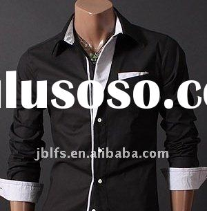 OEM new style mens' Casual Slim dress shirts