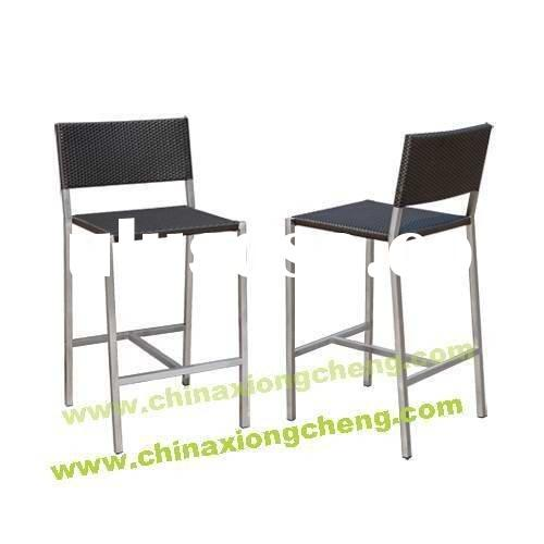 Outdoor Stainless steel and PE rattan arm chair
