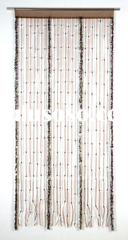 Paillette and plastic beads string curtain design 2011