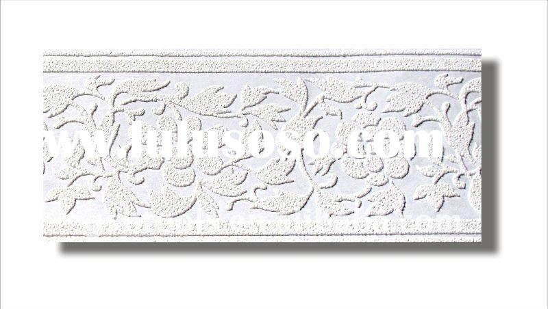 White Paintable Wallpaper Border Country