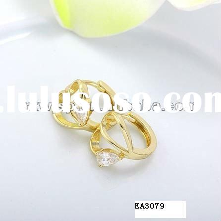 Pictures of gold earrings wholesale vintage jewelry