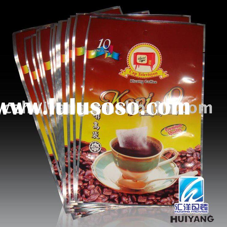 Plastic laminated coffee sachet packaging suppliers in china
