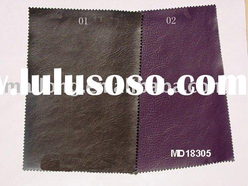 Popular and hot selling pvc leather cloth with high quality