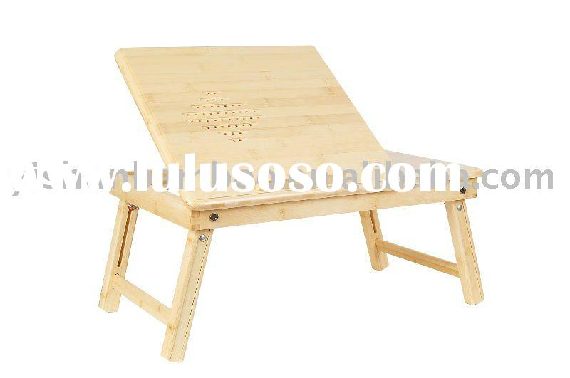 Portable Multifunctional Bamboo Laptop Bed Table