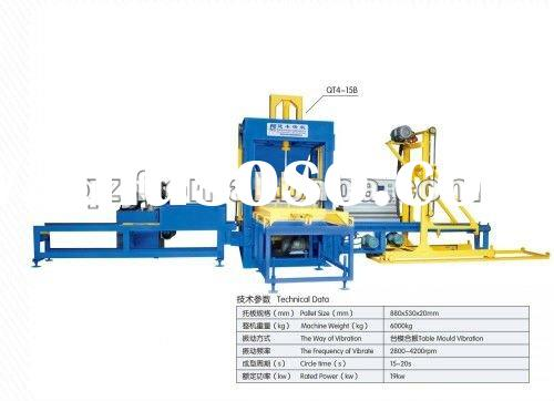 QT4-15B Fully-automatic concrete block making machine