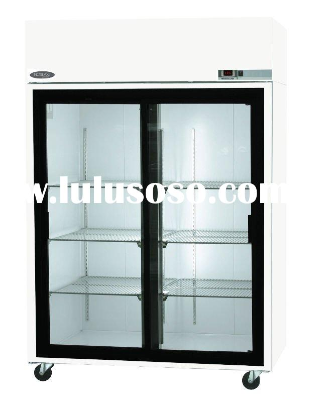 Refrigerator Freezer Double Glass Door