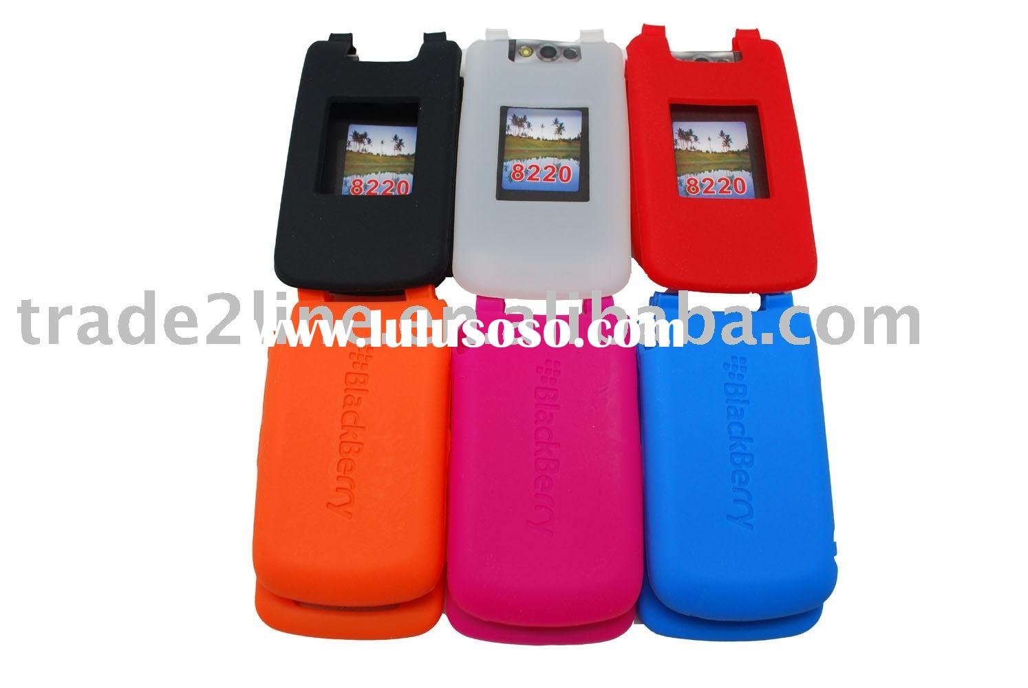 Silicon case for BlackBerry 8220,accessories for BlackBerry