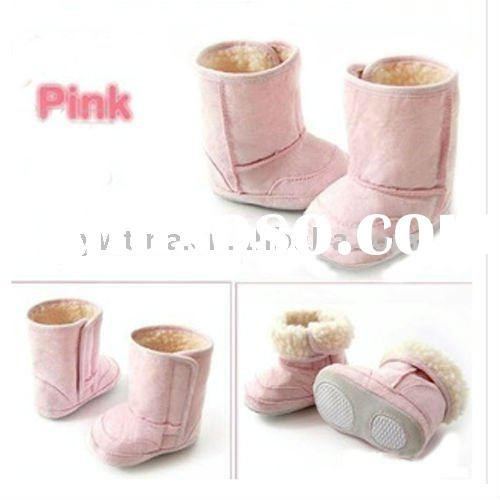 So cute!Pink Baby Boots/Baby shoes for infants