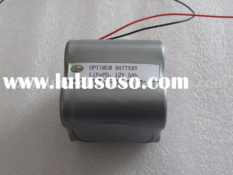 Solar LED Lights lifepo4 battery pack 12V 5Ah with suitable BMS and charger