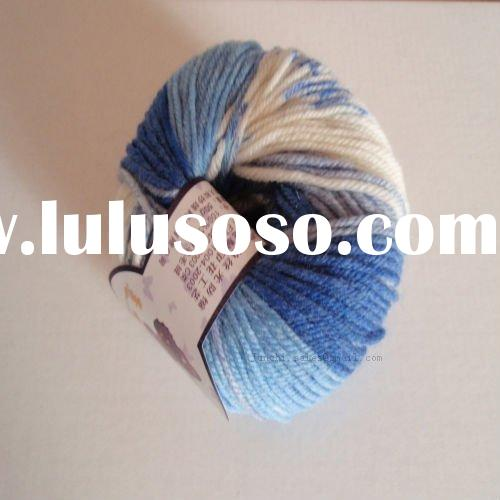 Space Dyed Blended Wool/Nylon hand knitting fancy yarn for glove,hat,sweater,scarf