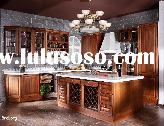 Standard Solid Maple Wood Kitchen Cabinets,Kitchen Furniture with Granite Counter Top and Stainless
