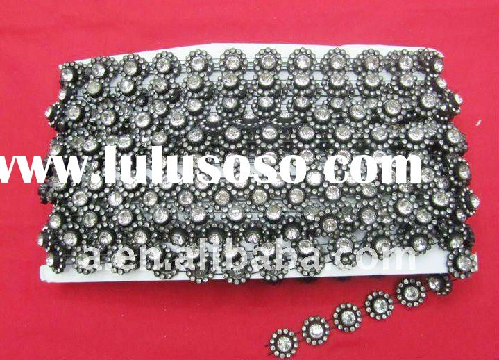 Sunflower shape costume accessories with Chinese B quality rhinestone