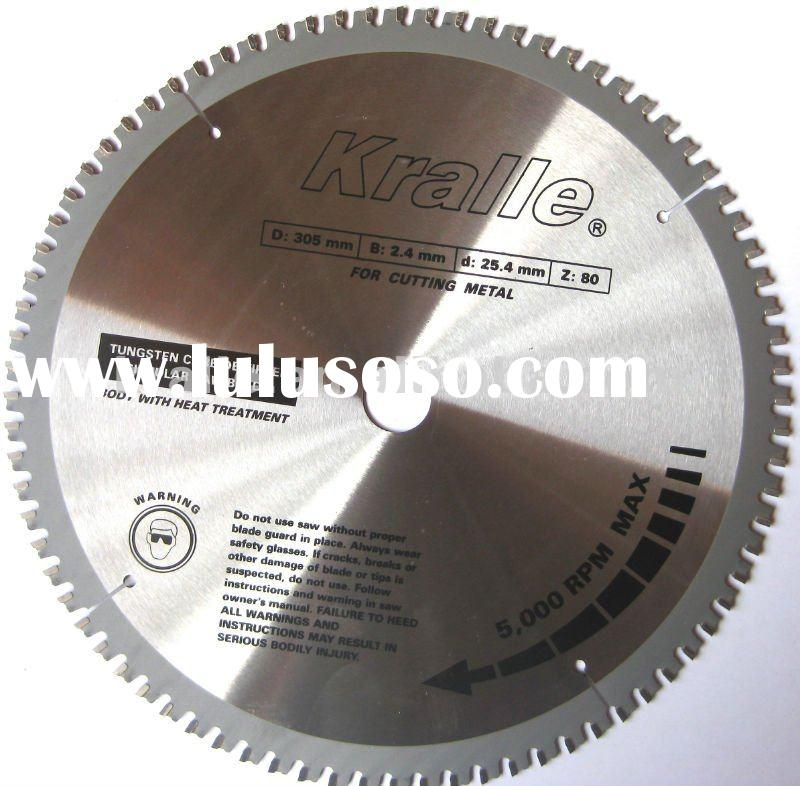 Tct saw blades for cutting metal