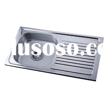 Top mount stainless steel sink L(1) 85X45 sink with drain board