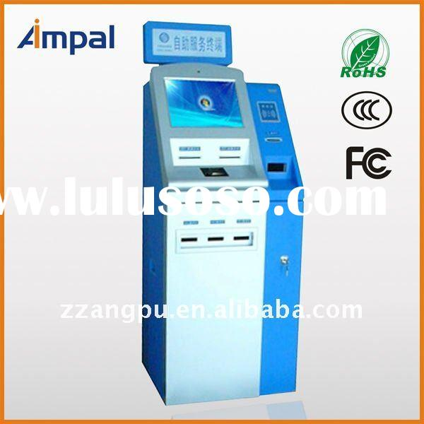 Touch Screen bill payment Kiosk with credit card reader