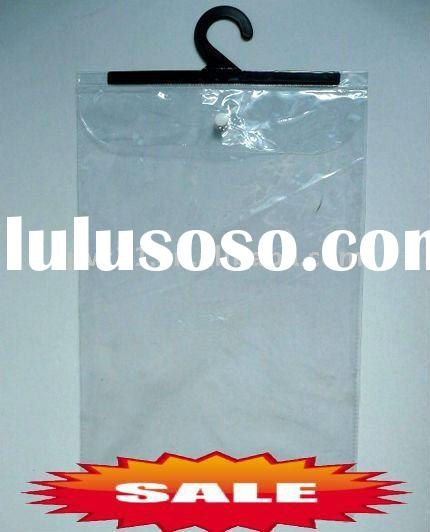 Transparent Reusable PVC Plastic Garment Packing Bags With Zipper and Hook