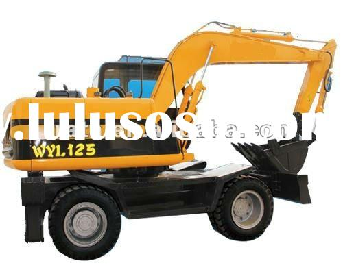 WYL125 wheeled excavator for sale 0.4m3 bucket siza