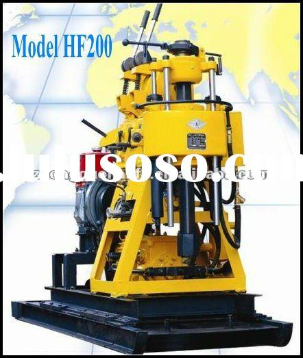 Water drilling machine for Sale!!!Hydraulic core drilling,hard rock drilling,soil drill,HF200 man po