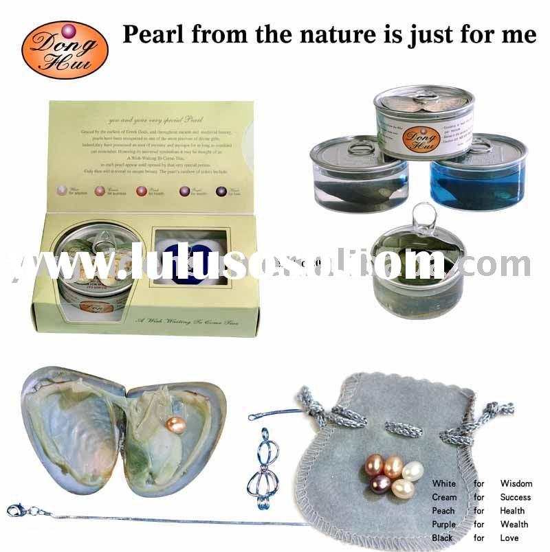 Wish Pearl, Love Pearl Necklace Gift Set (HB-2001)