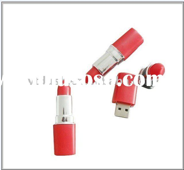 Women promotions Lipstick usb flash drive, oem Lipstick shape usb flash drive, Cosmetic usb flash dr