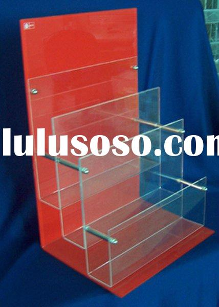 acrylic advertising magazine holder rack display