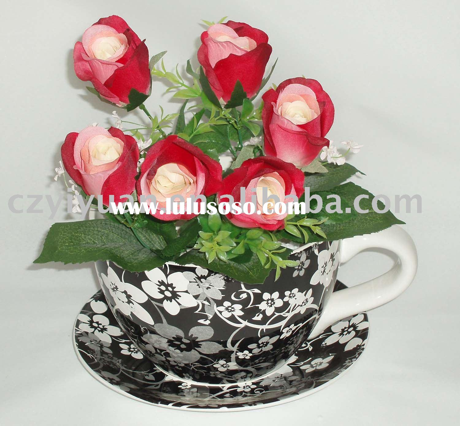 Ceramic Cups And Saucers Cup And Saucer Planter