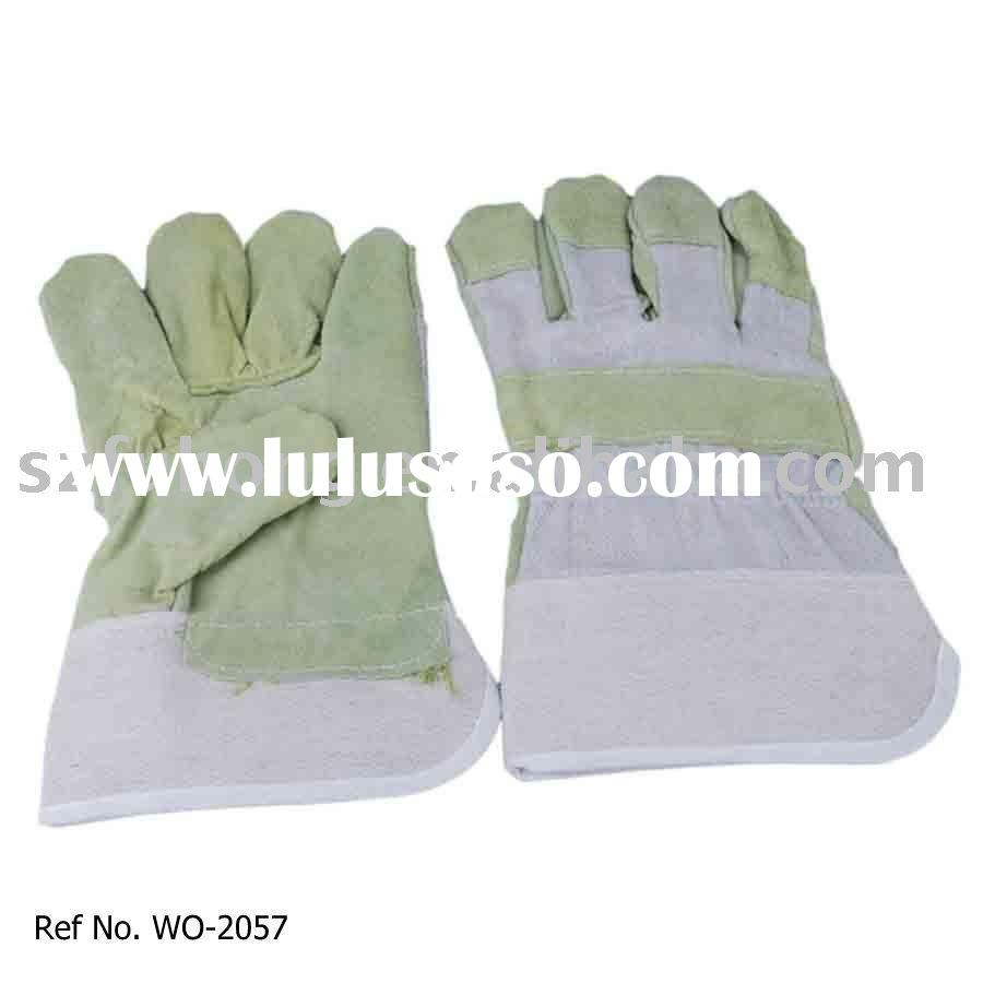 cheap leather safety garden glove for general work
