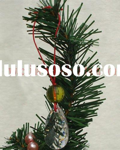 christmas tree hanging bead, christmas crystal ornament, christmas acrylic bead pendant