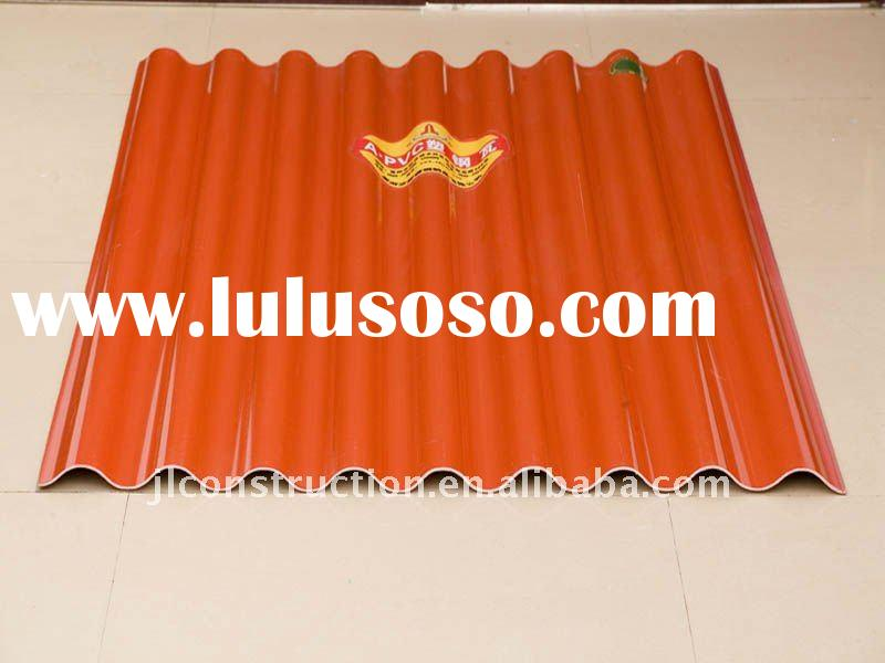 colorful anti-UV ray corrugated plastic roofing sheets