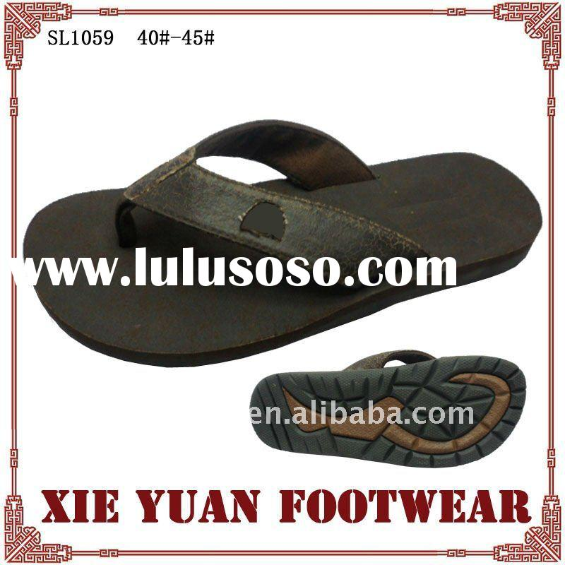 comfortable pu slippers for men