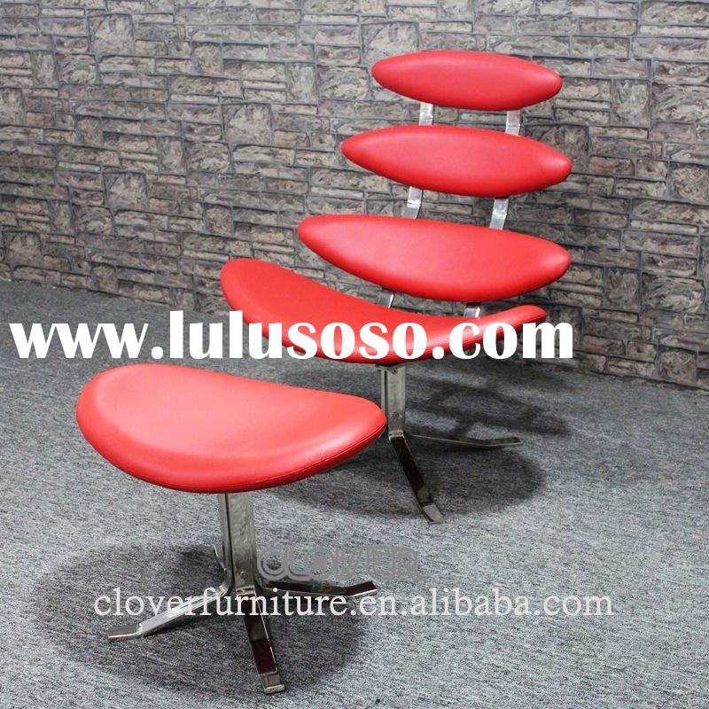 corona chair red italian leather
