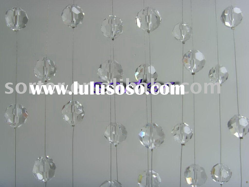 decorative crystal bead and plastic string curtain,crystal string beads