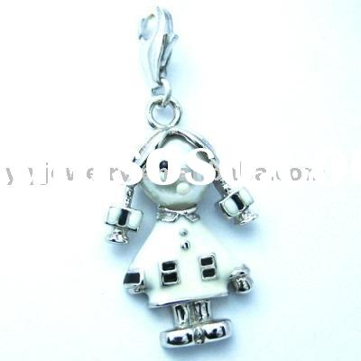 fashion children's jewelry silver charms