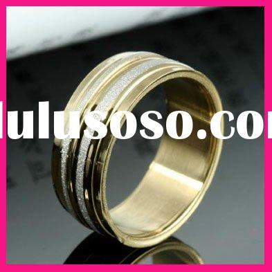 fashion gold plated wedding rings for women cheap wholesale men stainless steel ring