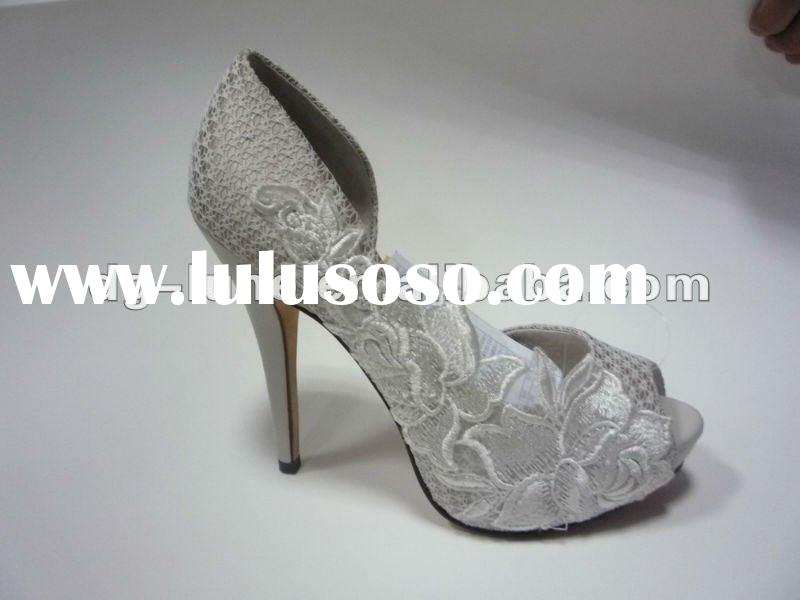 fashion ladies white shoes, dress shoes, wedding shoes, party shoes
