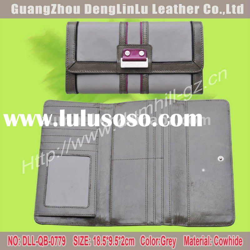 2012 fashion lady leather wallets and purses