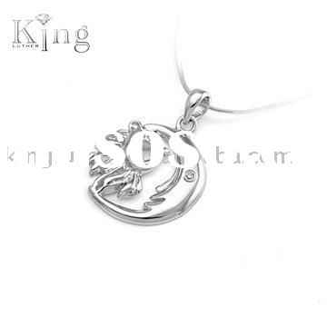 fashion pendant,pendant jewelry,silver pendant,wholesale pendant--king 925 sterling silver jewelry