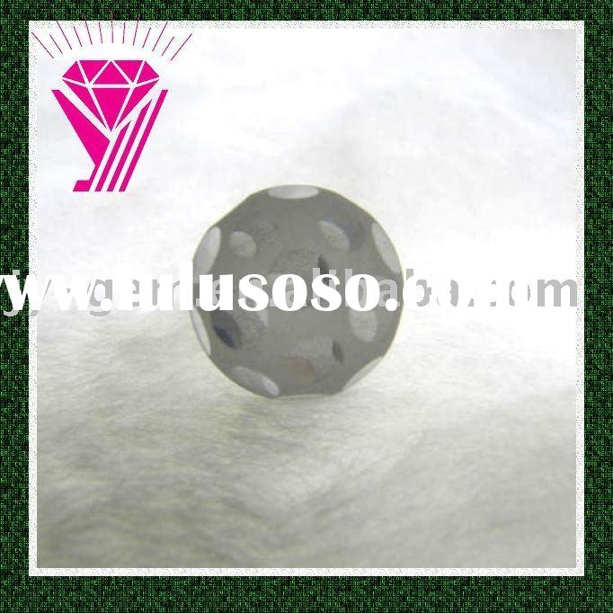 football shape faceted cubic zirconia cz gem beads