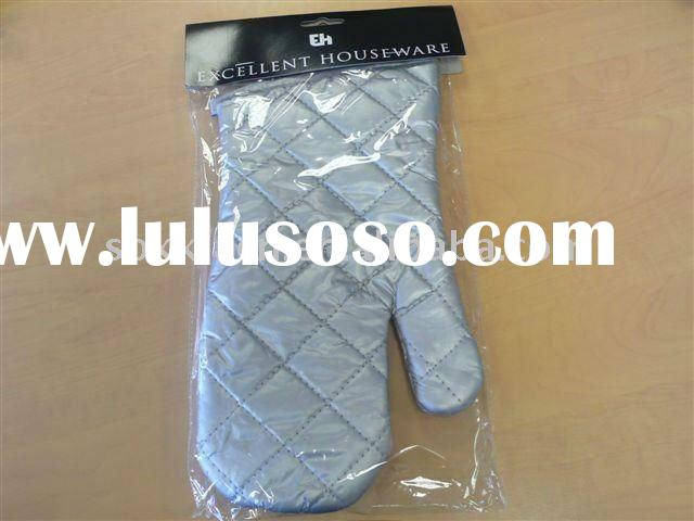 heat protected cotton canvas oven mitten for kitchen