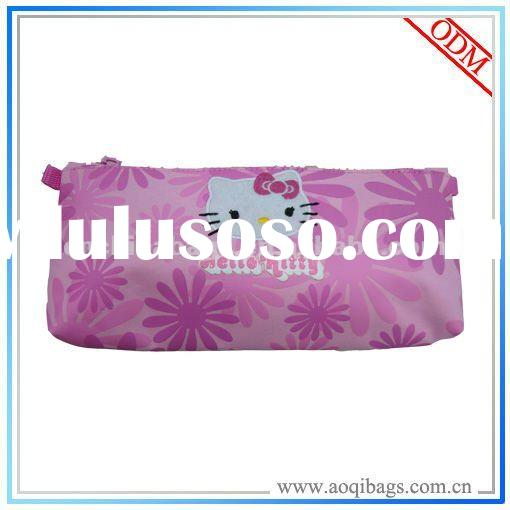hello kitty pink pencil case bag with compartments
