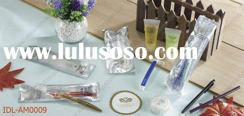 hotel amenities, disposable articles, bathroom amenities, toiletries articles.