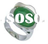 jade stainless steel men rings