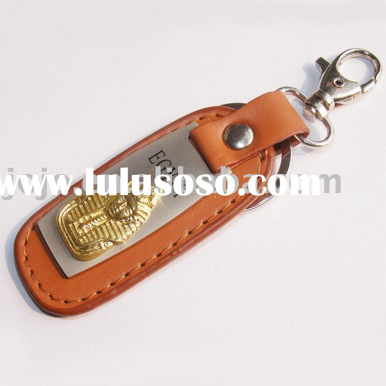 key closing/key holder/metal key chain/leather key closing