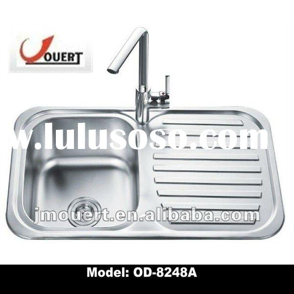 Stainless Kitchen Double Sink With Drainboard Stainless Kitchen Double Sink With Drainboard