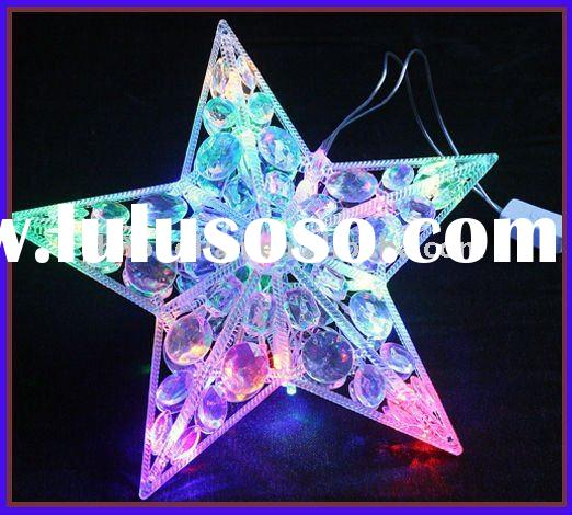 large-scale LED holiday five star multi colorful lighting five-pointed star light pentagon christmas