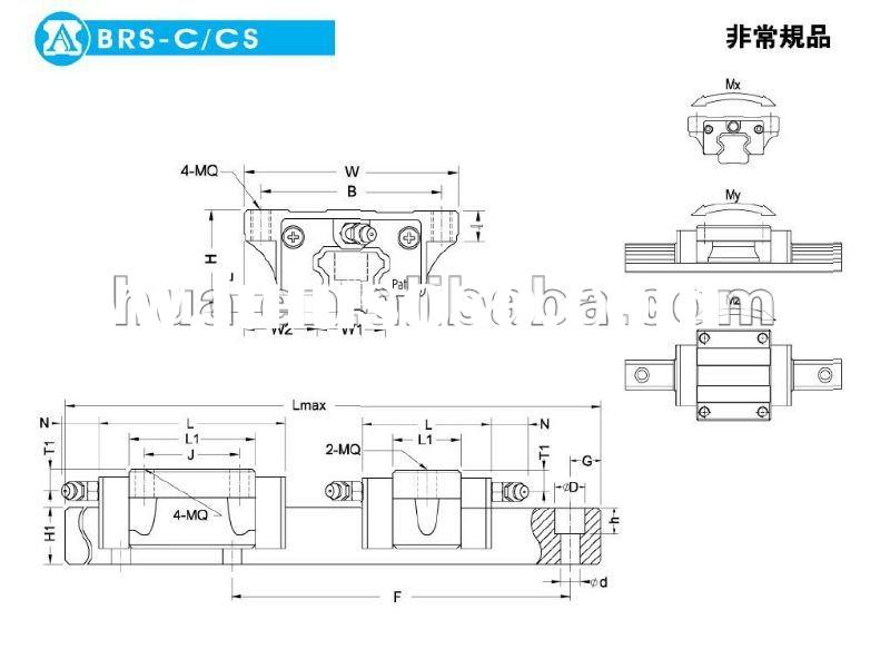linear guides and slides,motorized linear rail,linear slide rail blockBRS25CS